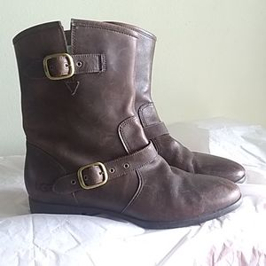 UGG Leather Moto Boots